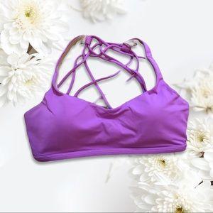 Purple Strappy Lululemon Sports Bra